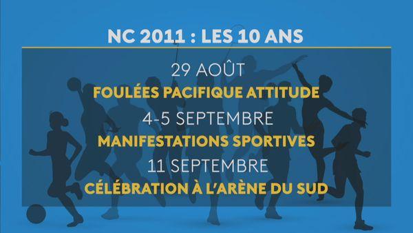 Célébrations 10 ans Jeux du Pacifique NC2011