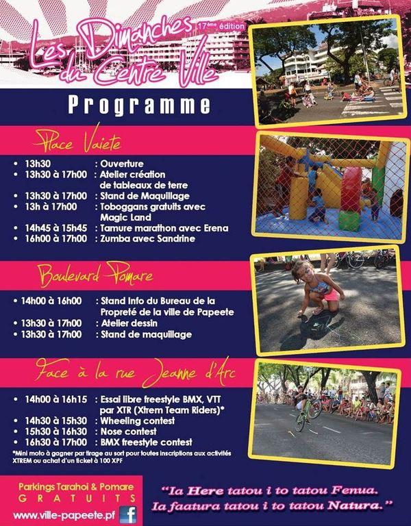 programme dimanche centre ville