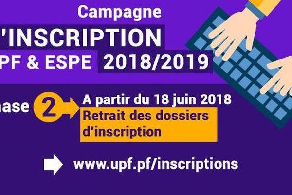 Les inscriptions à l'UPF sont ouvertes