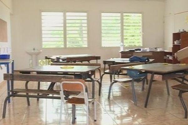 Salle de classe à Futuna