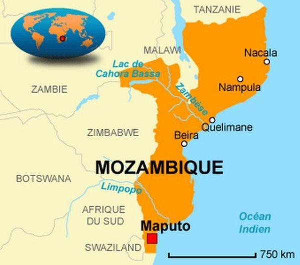 Carte Mozambique