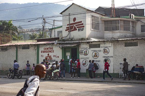 Local de Médecins sans frontières dans le quartier de Martissant, à Port-au-Prince, le 2 décembre 2020.