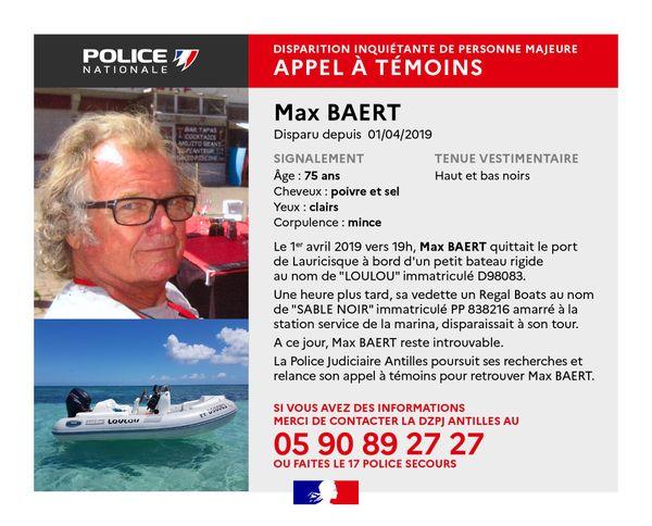 Disparition inquiétante Max Baert - 10/05/2021