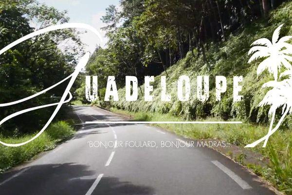 Capture d'écran du clip de Stéphane M sur la Guadeloupe