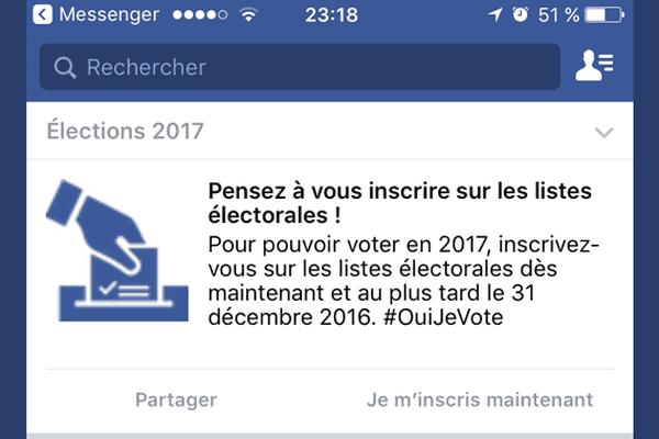 Quand Facebook se met à faire de la politique