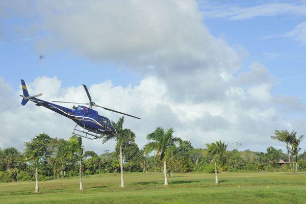 Baptême de l'air en hélicoptère durant la fête de l'air et de l'Espace 2018