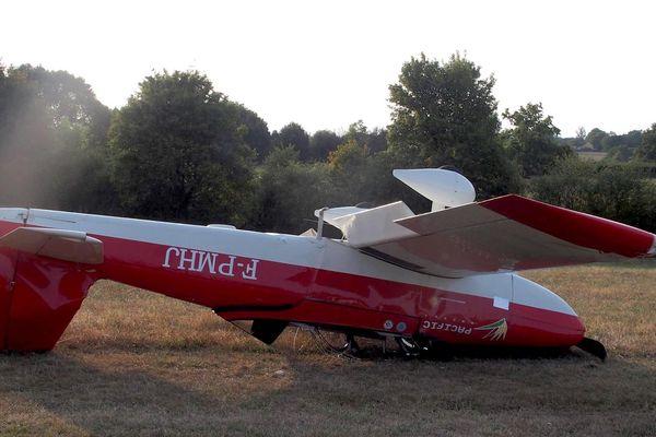Avion RV8 Hugues Jurion renversé août 2017
