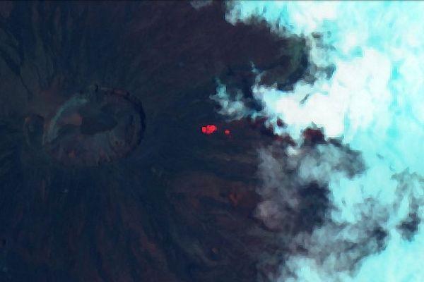 Image satellite de La Fournaise 16 février 2020 10 h 35