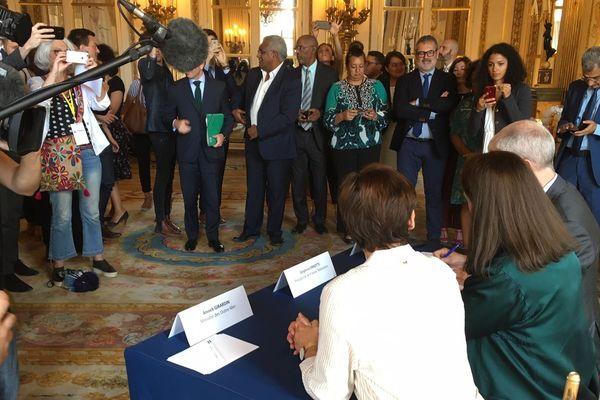 Signature du Pacte pour la visibilité des Outre-mer le 11 juillet 2019