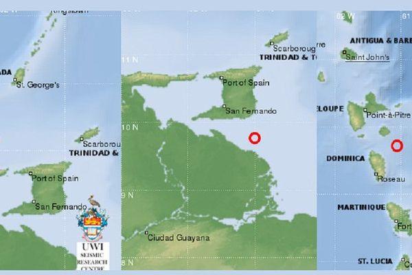 localisation des secousses sismiques de ces derniers jours