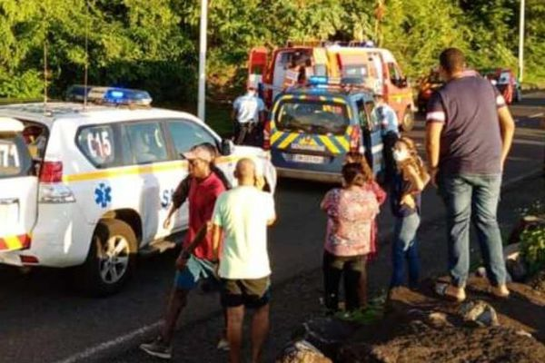 Cycliste fauché par un gendarme à Vieux-Fort