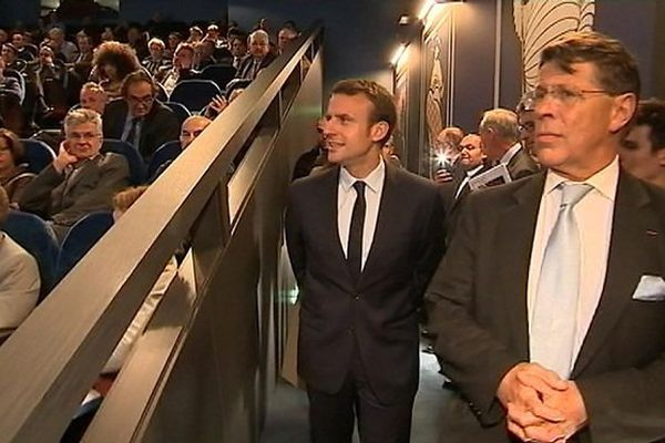 Emmanuel Macron colloque Cyclope Nickel