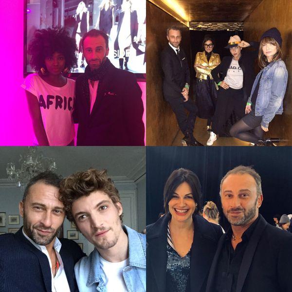 Avec son agence de consulting, le Calédonien gère quelques événements et relations presse de stars françaises. Ici avec Helena Noguerra
