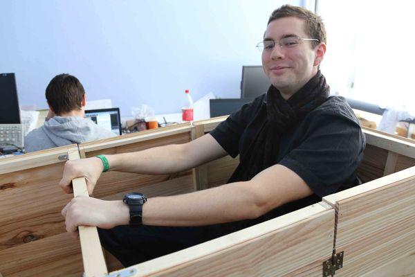 Benjamin Bosserelle et le prototype Stimulus à l'ESIEA de Laval