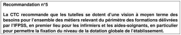 Recommandation de la Chambre des comptes à l'IFPSS, 2 2017