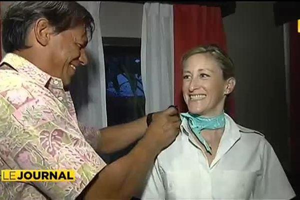 Agnès Chantre, première femme commandant de bord sur ATN