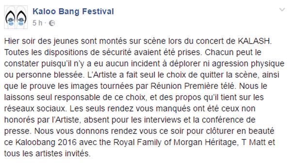 Kaloo Bang Festival FaceBook