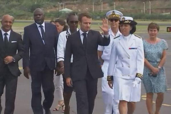 Arrivée d'Emmanuel Macron à Saint Martin