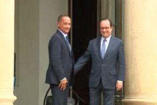 Hollande et Alexandre à l'Elysée