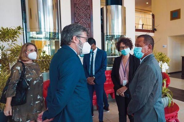Fernando Pontes l'ambassadeur de l'Union Européenne au Suriname et au Guyana.