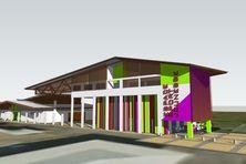 La maquette du futur centre d'insertion de Kourou