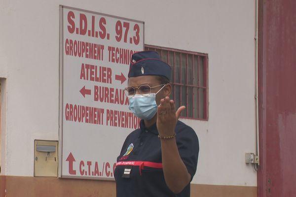 Lieutenant Gladys Boutry Léoté sapeur pompier
