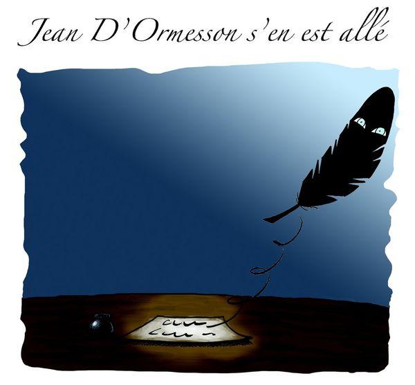 Le dessin de Souch : Jean d'Ormesson