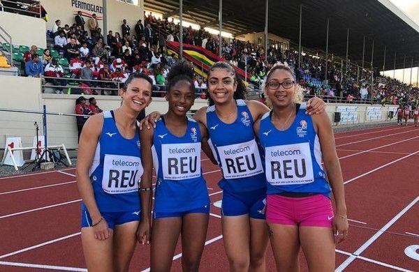 JIOI 2019 athlétisme médaille d'argent au relais 4x100m féminin 250719
