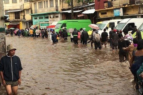 Inondation à Tananarive 7 février 2019