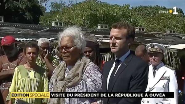 Macron et Marie Claude Tjibaou Ouvéa