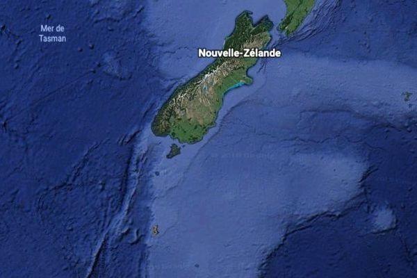 Carte Nouvelle-Zélande et Campbell Island