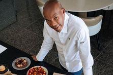 Le chef étoilé Martiniquais Marcel Ravin, chef du restaurant gastronomique le Blue Bay à Monaco.