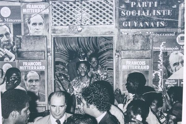 François Mitterand au parti socialiste guyanais