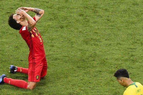 Axel Wisel, après la victoire des Diables rouges contre le Brésil en quart de finale du Mondial 2018.