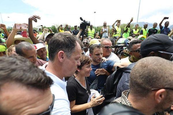 Annick Girardin est arrivée à La Réunion.