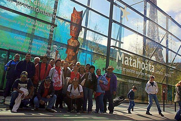 La délégation marquisienne à Paris dans le cadre de l'expo spéciale Marquises au musée du Quai Branly