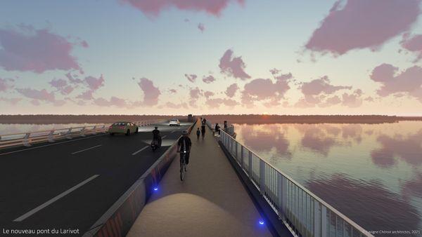 Le projet du futur pont du Larivot