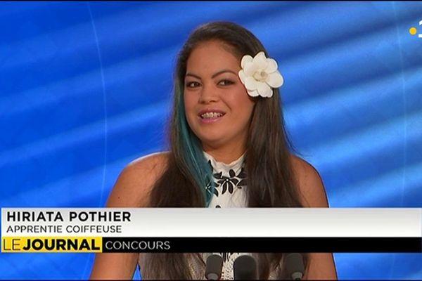 Hiriata Pothier, lauréate du concours régional d'apprenti coiffeuse
