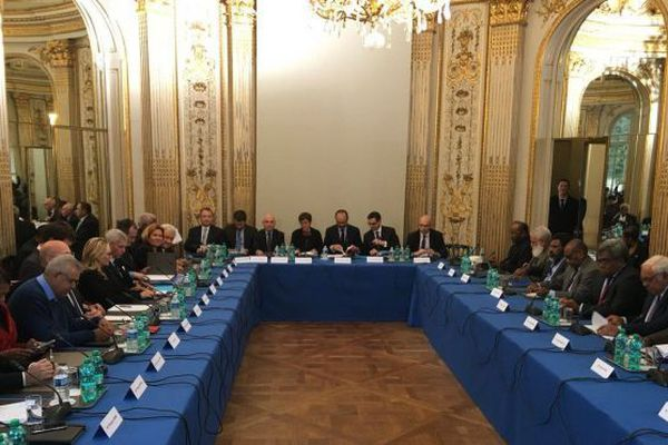 comité des Signataires, à Matignon, en mars 2018