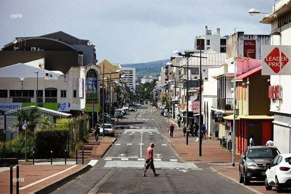 Les rues de Saint-Denis à La Réunion.