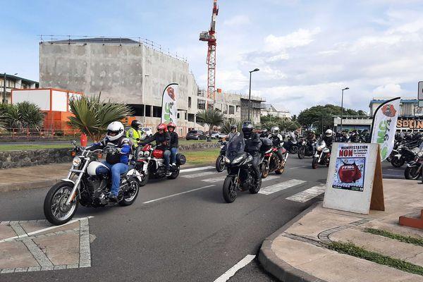 Manifestation des motards contre le contrôle technique - 1