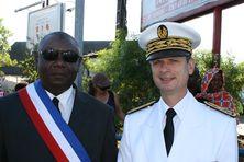 Mohamed Majani,maire de Mamoudzou et Jacques Witkowiski,préfet de Mayotte