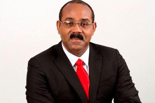 Gaston Browne Premier ministre d'Antigua et Barbuda.