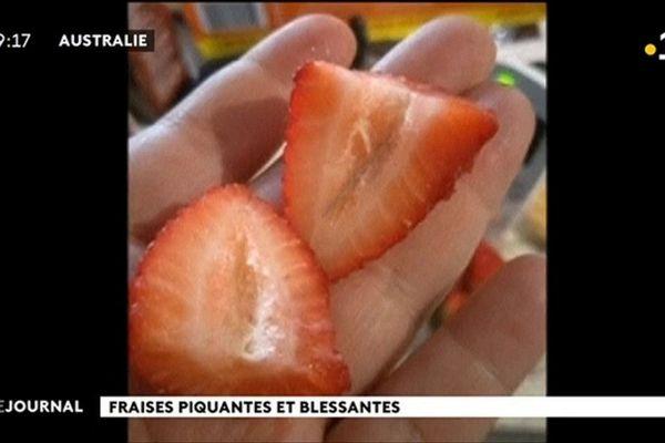 Attaque à la fraise piégée en Australie