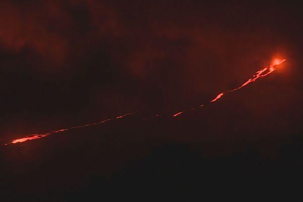 Coulée de lave, nuit du 11 Juin 2019