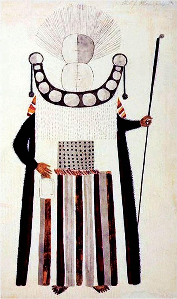 Costume de deuilleur dessiné par Tupaia
