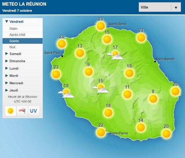 Carte météo du 7 Octobre 2016