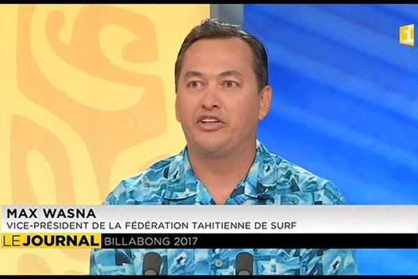 Invité de l'hebdo : Max Wasna, Président du Tahiti Iti Surf Club