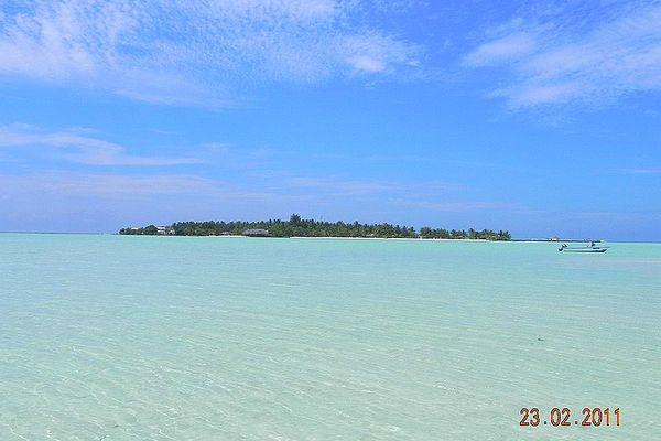 Atoll de Rihiveli aux Maldives