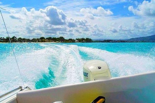 Speedboat à l'île Maurice